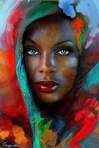 Amazing Blackart, Color Blue, Blue Eyes, African American ...