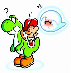 Yoshi and Baby Mario with Boo by JamesmanTheRegenold on ...