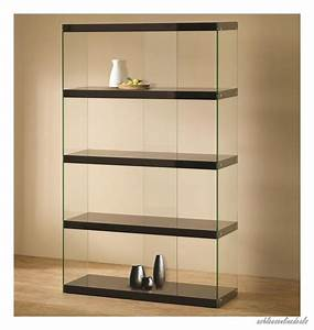 New Black Glass Curio Furniture Display Case Cabinet ...