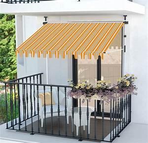Klemmmarkise balkonmarkise markise sonnenschutz einziehbar for Markise balkon mit tapeten 1