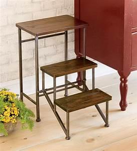 foldable, 2, u0026, 39, h, wooden, step, stool