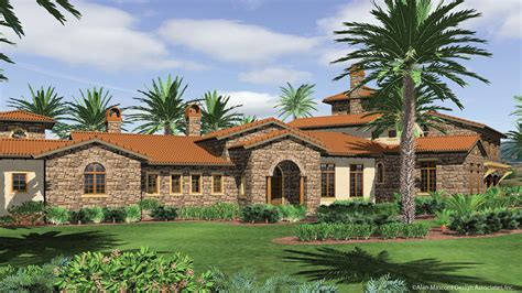 mediterranean house plan   franciscan  sqft  beds  baths