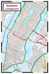 Manhattan Map with Streets