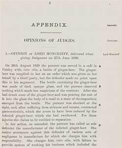 SCLR - Key Cases - Donoghue v. Stevenson Session Papers ...