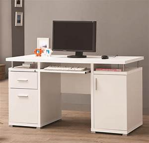 Coaster 800108 White Wood Computer Desk - Steal-A-Sofa