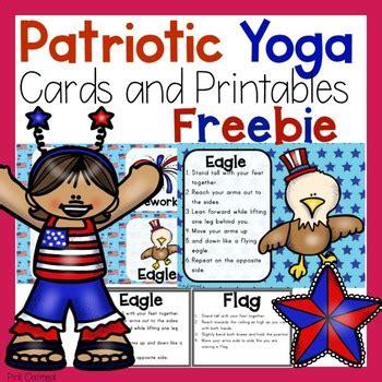 patriotic yoga cards  printables  pink oatmeal