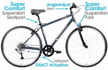 Bikes Hybrid X4 Rover 8sp Sram Shock