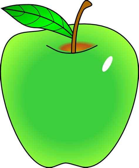 Apples Clipart Shaded Green Apple Clip At Clker Vector Clip