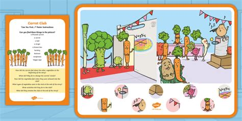 * New * Carrot Club Can You Find? Poster And Prompt Card Pack Originals