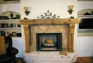 Hand carved mantel and upright supports with corbels