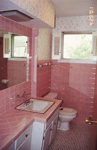 Pink tile painted bathroom tile dream home pinterest for Painting shower tiles bathroom