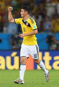 James Rodriguez in Colombia v Uruguay: Round of 16 - 2014 ...