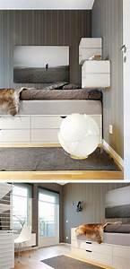 Ideen Mit Ikea Möbeln : die 25 besten ideen zu bett mit stauraum auf pinterest ~ Lizthompson.info Haus und Dekorationen