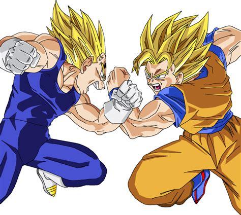Majin L Vs Goku by Goku Vs Majin Vegeta Render By Amidazoro On Deviantart
