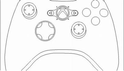 Coloring Xbox Pages Controller Ps4 Drawing Getdrawings