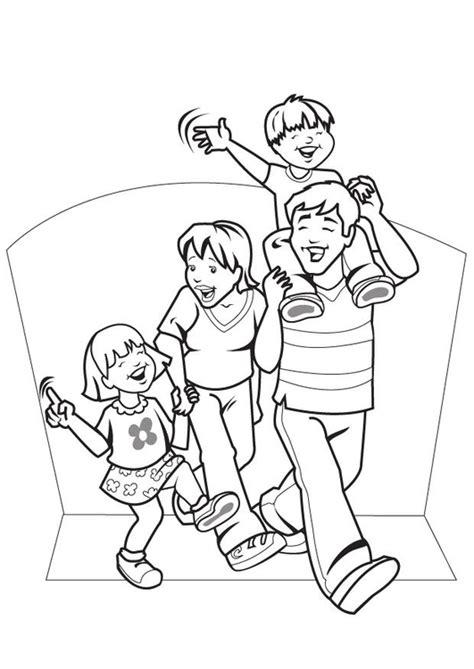 Malvorlage Familie  Ausmalbild 7089