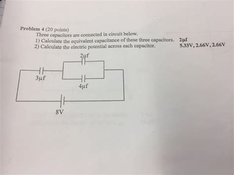 Solved Three Capacitors Are Connected Circuit Below