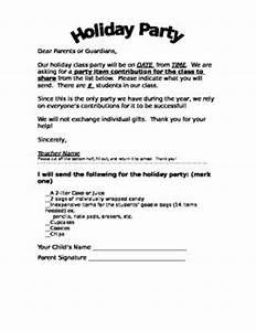Class Holiday Party Letter English and Spanish by 4 The