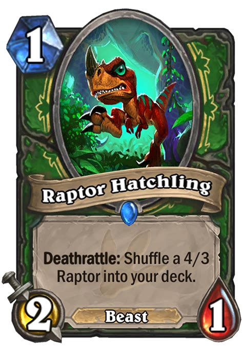 hearthstone deathrattle deck 2017 raptor hatchling hearthstone card