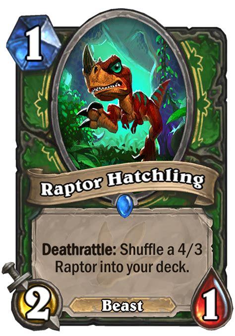 deathrattle deck hearthstone 2017 raptor hatchling hearthstone card