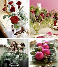 table decorations for christmas 50 Great & Easy Christmas Centerpiece Ideas - DigsDigs
