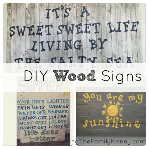 diy wood signs saving  family money