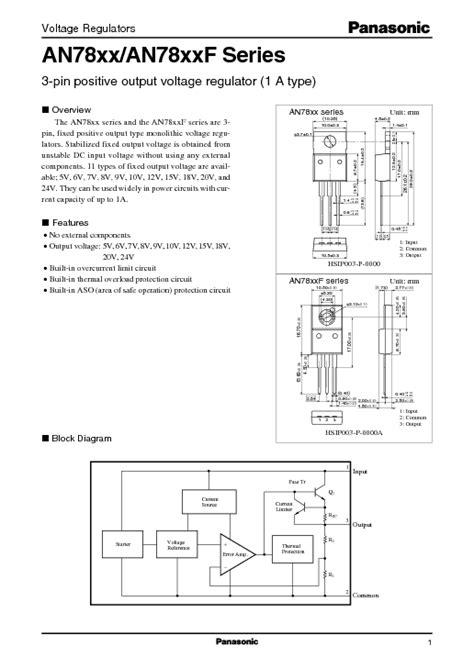 AN7805 DATASHEET EBOOK