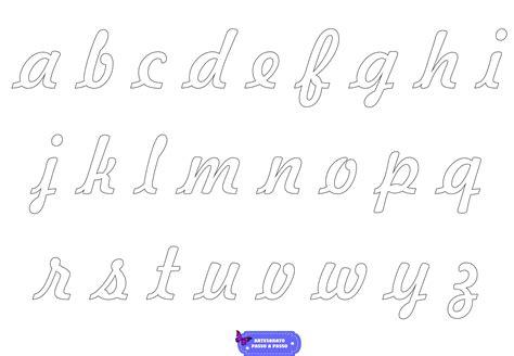 molde de letras cursivas para imprimir artesanato passo a passo