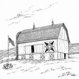 Barn Coloring Drawing Appalachian Drawings Pages Embroidery Adult Quilt Memories Sheets Barns Quilts Quilting Star Spinning Books Farm Line Printable sketch template