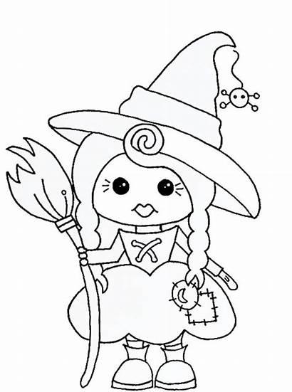Witch Stamps Digital Coloring Digi Halloween Stamp