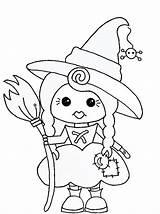 Coloring Halloween Witch Digi Hexen Stamp Printable Pixie Stamps Bruxas Boyama Dia Patchwork Malvorlagen Preschool Activity Resmi Cady Octobre Rabiscos sketch template