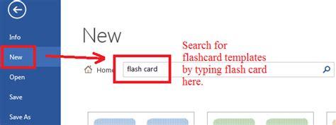 flashcards  microsoft words templates