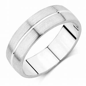 Men39s Wedding Band In 10ct White Gold