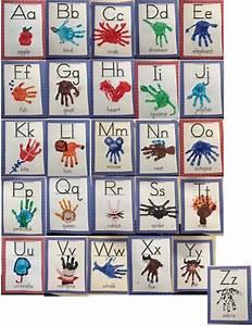 ms moran39s kindergarten classroom handprint alphabet With letter art book