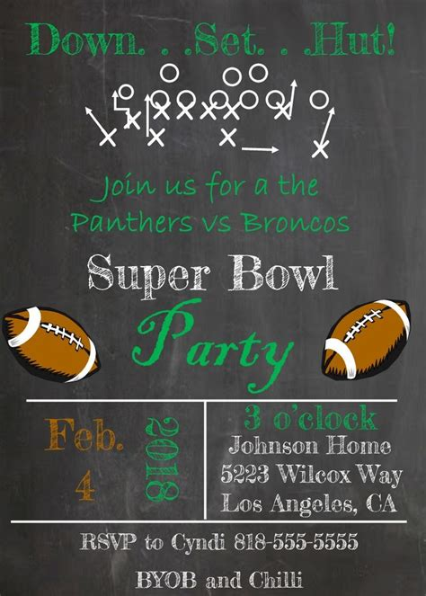 superbowl invitations 88 best super bowl party invitations images on pinterest party invitations football parties
