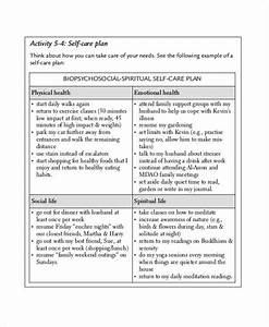 care plan templates 10 free word pdf format download With self care plan template