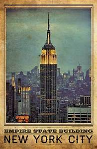 New York Poster : nyc empire state building vintage travel poster i lost my dog ~ Orissabook.com Haus und Dekorationen