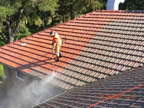 a that shows how to paint a roof