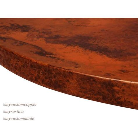 copper kitchen backsplash custom copper tabletops quot canonita quot custom made 2577