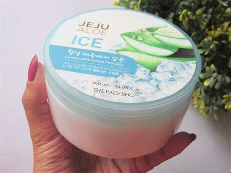 Harga The Shop Jeju Aloe Fresh Soothing Gel the shop jeju aloe refreshing soothing gel review