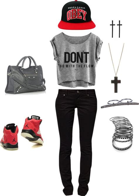 U0026quot;For girls who aint afraid to wear Jordans .u0026quot; by laylahood on Polyvore | My Creations(style ...
