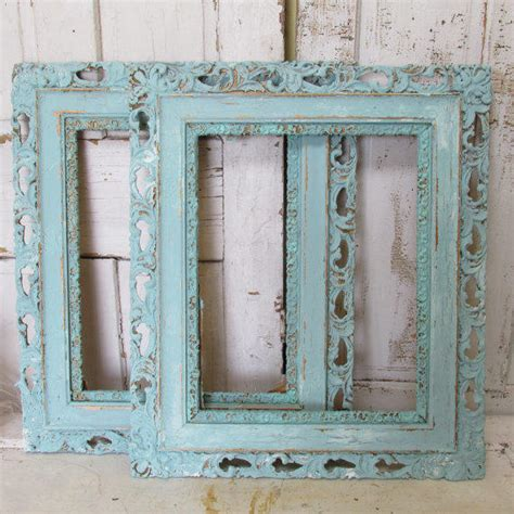 large shabby chic frames large wooden frames shabby chic vintage from anitasperodesign on