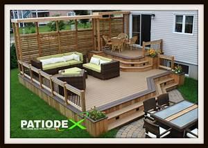 Modele De Terrasse Exterieur : patio composite patio terrasse bois sans entretien ~ Teatrodelosmanantiales.com Idées de Décoration