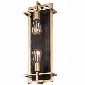 varaluz madeira 2 light rustic gold sconce 294w02rg the With outdoor wall lights gold coast