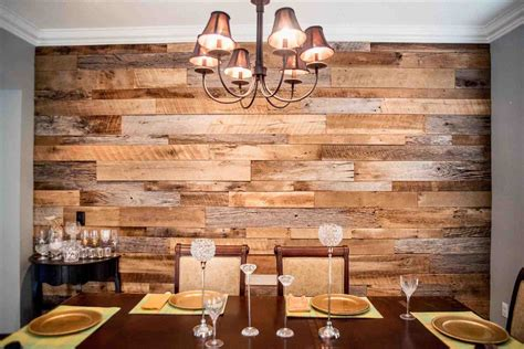 home interior wall decor creations the wood accent wall dining room hughesu dining room reclaimed wood accent wall fama