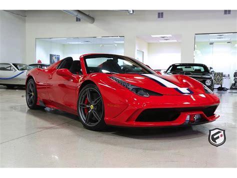 Truecar has over 816,800 listings nationwide, updated daily. 2015 Ferrari 458 Speciale Aperta for Sale   ClassicCars.com   CC-887818