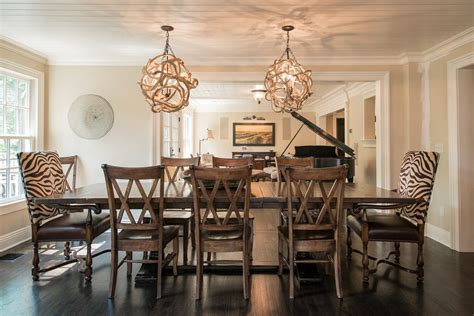 cool light fixtures looking extendable dining table in dining room