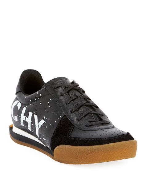 givenchy mens set  logo print leather tennis sneakers neiman marcus