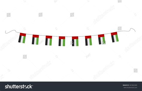 Hanging Small National Flags Uae On Stock Vector 341892305