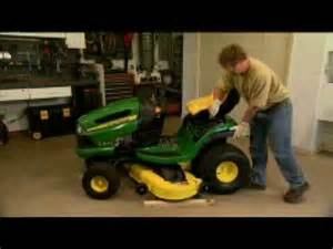 removing and attaching a mower deck youtube